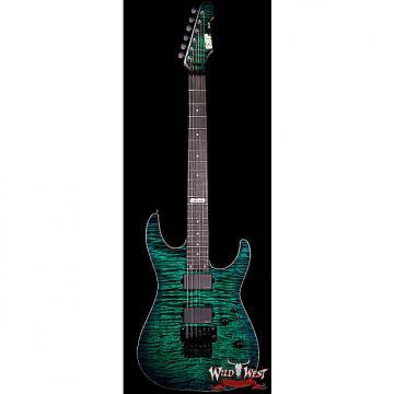 Custom ESP USA M-II FR Flame Maple Top with Ebony Fretboard Emerald Green Sunburst