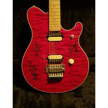 """Custom EVH """"AUTOGRAPHED"""" SIGNATURE MUSIC MAN Music Man 93' First Issue Trans RED"""