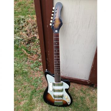 Custom Vintage Audition Zenon 3 PU 1960's Sunburst like Teisco MIJ Gold Foils