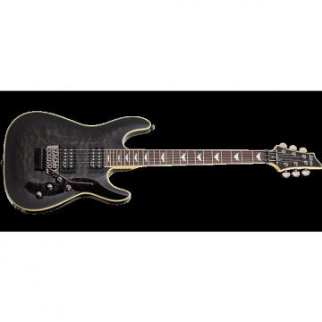 Custom Schecter Omen Extreme-6 FR Electric Guitar in See-Thru Black Finish