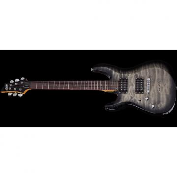 Custom Schecter C-6 Plus Left-Handed Electric Guitar Charcoal Burst