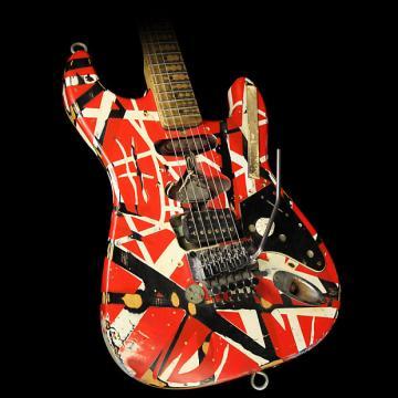 Custom Used 2007 EVH Limited Frankenstein Replica Electric Guitar Frankenstein Stripe