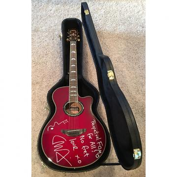 Custom Liam Finn AUTOGRAPHED Yamaha APX900 Acoustic/Electric Cutaway Guitar 2010 Crimson Red Burst