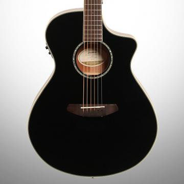 Custom Breedlove Limited Edition Pursuit Concert Acoustic-Electric Guitar (with Gig Bag), Black
