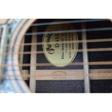Custom Dreadnought 1833 Martin D45 Natural Acoustic Guitar Sitka Solid Spruce Top With Ox Bone Nut & Saddler