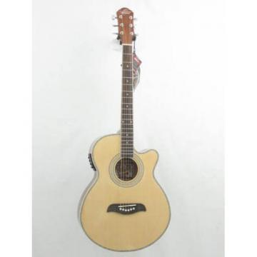 Oscar Schmidt OG10CEN Natural Gloss Electric Acoustic Guitar