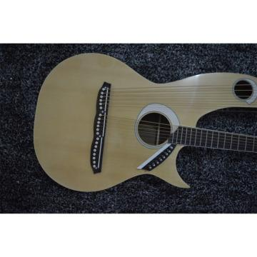 Custom Shop Natural Double Neck Harp Acoustic Guitar