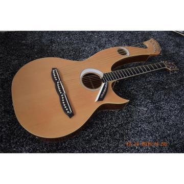 Custom Built 6 6 8 String Acoustic Electric Double Neck Harp Guitar