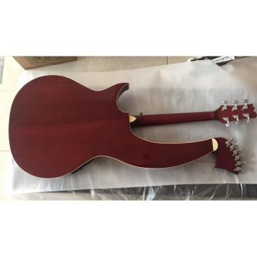 Custom 6 6 8 String Acoustic Electric Double Neck Harp Bass Guitar