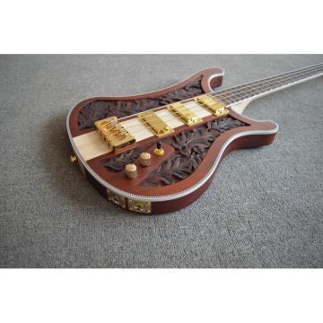 Lemmy Kilmister  Rickenbacker 4003 Matte Carved Natural Ash Bass Back Strap