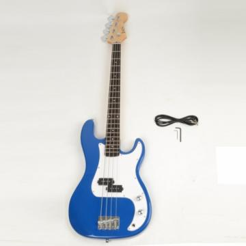 ISIN P-01 Electric Bass Guitar Blue with Power Wire Tools