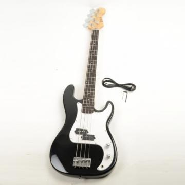 ISIN P-01 Electric Bass Guitar Black with Power Wire Tools