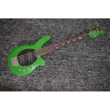 Custom Star Passive Pickups Bongo Music Man Green 5 Strings Bass