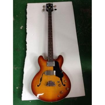 Custom Shop Tiger Maple Top Midtown Standard 4 String Semi Hollow Bass