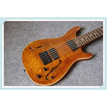 Custom Shop PRS SE 6 String Bass Brown Maple Top F Hole Hollow
