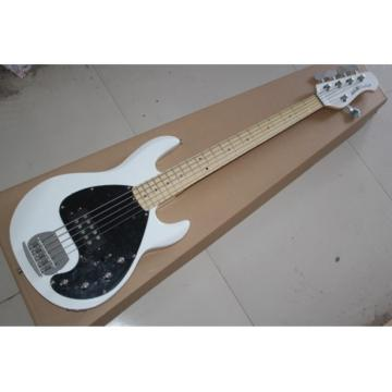 Custom Shop MusicMan White 5 StringsMusic Man S.U.B. Ray5 Electric Bass