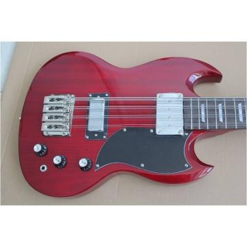 Custom Shop EB-3 SG Standard Burgundy 8 String Bass