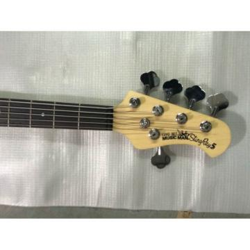 Custom Natural Gloss 5 String Music Man S.U.B. Ray5 Electric Bass Passive Pickups
