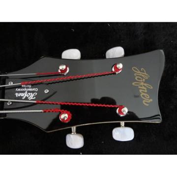 Custom Left Handed Hofner Jubilee Union Jack Paul Mcartney 4 String Bass Guitar
