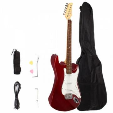 Rosewood Fingerboard Electric Guitar with Gig bag & Accessories Rosy