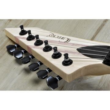 One Piece Electric Guitar Gecko GE803 24 Frets Wooden Design 2 Humbucker Pickup
