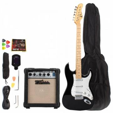 Maple Fingerboard Electric Guitar with Amp Turner Bag & Accessories Monochrome