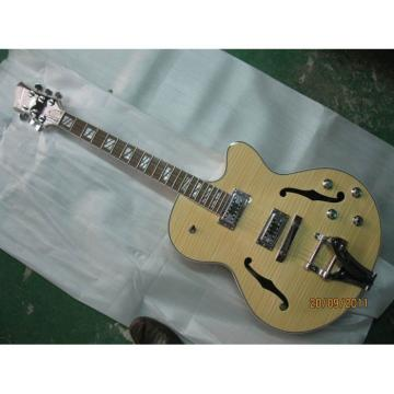 Logical Crown Cream Wave Hollow Body Electric Guitar