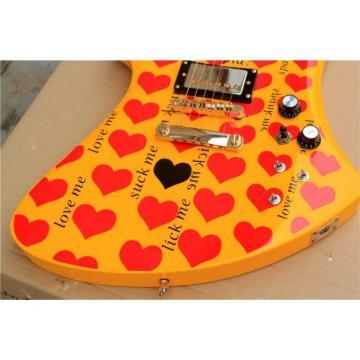 Fernandes Burny MG-360s Yellow Heart Electric Guitar