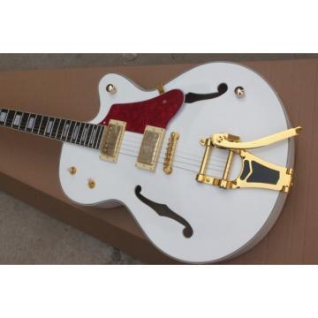 Custom White 6120 Setzer Nashville Electric Guitar