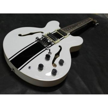 Custom Tom Delonge ES-333 White Electric Guitar