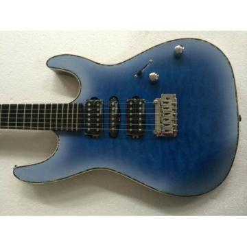Custom Shop Suhr Flame Maple Top Transparent Blue Electric Guitar