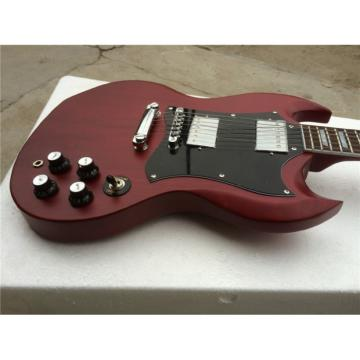 Custom Shop SG Burgundy Matte Electric Guitar