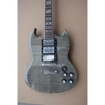Custom Shop SG Gray Tiger Maple Top Supreme Electric Guitar