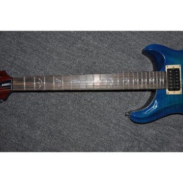 Custom Shop PRS Blue Tiger Maple Top 6 String Electric Guitar
