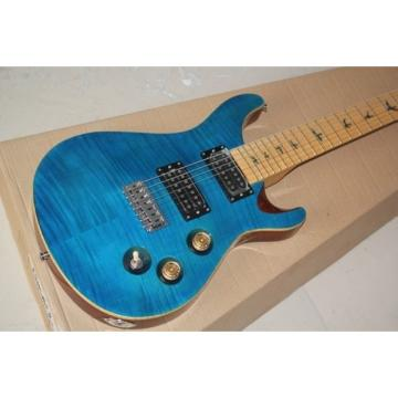 Custom Shop PRS 7 String Blue Flame Maple Top Electric Guitar