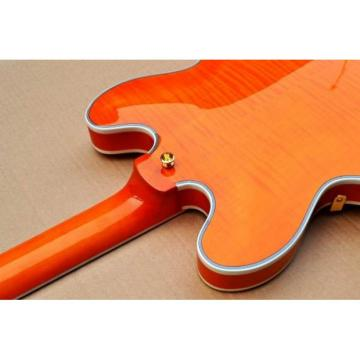 Custom Shop Orange 335 Semi Hollow Jazz Electric Guitar