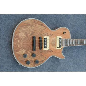 Custom Shop Natural Spalted Maple Dead Wood LP Electric Guitar
