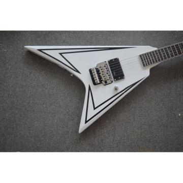 Custom Shop LTD Flying V Alexi Laiho White Electric Guitar
