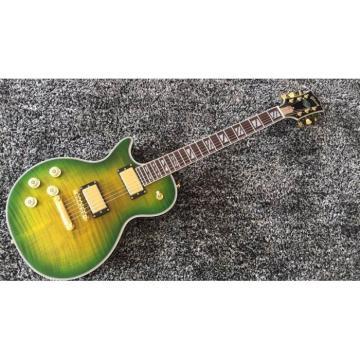 Custom Shop LP Supreme Yellow Green Burst Tiger Maple Top Electric Guitar