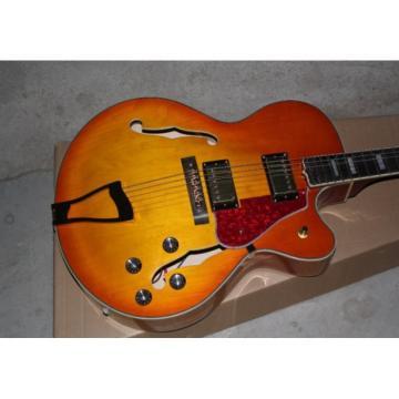 Custom Shop L5 Fhole Cherry Sunburst Jazz 6 String Electric Guitar