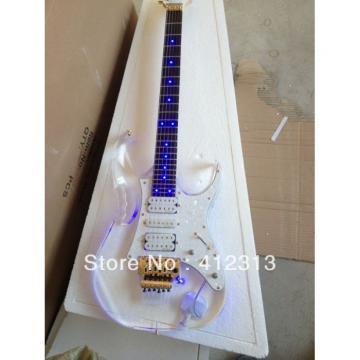 Custom Shop Ibanez Acrylic With Blue Led Light Electric Guitar