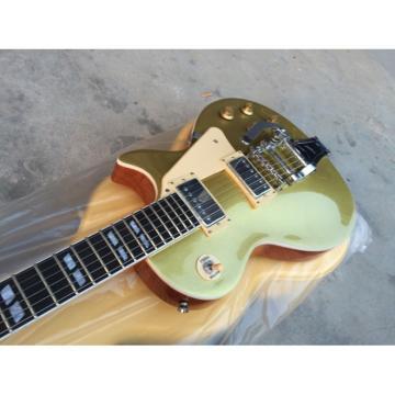 Custom Shop Gold Top Bigsby Tremolo 6 String Electric Guitar