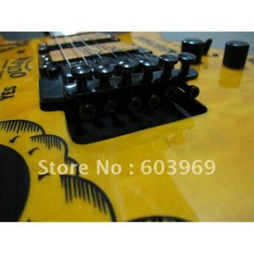 Custom Shop ESP Yellow Kirk Hammett Ouija Electric Guitar