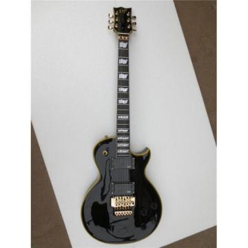 Custom Shop Eclipse ESP Black Electric Guitar With Tremolo