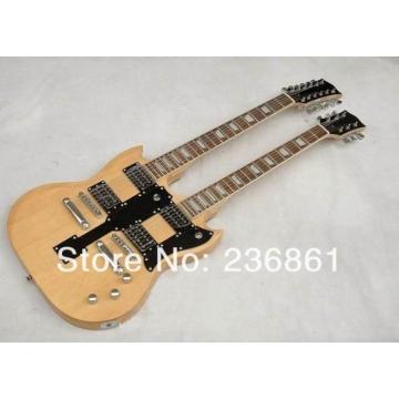 Custom Shop EDS 1275 SG Double Neck Natural Electric Guitar