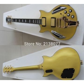 Custom Shop ES 335 Bigbys Gold LED Jazz Electric Guitar