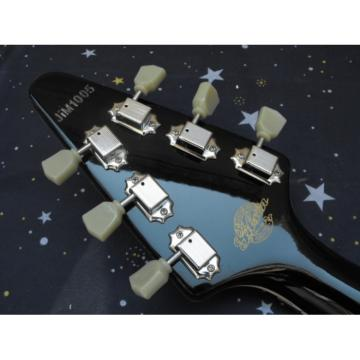 Custom Shop Camouflage guitarra Flying V Electric Guitar