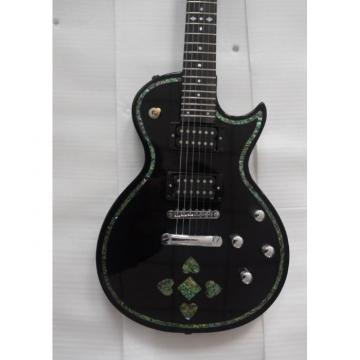 Custom Shop Black Real Abalone Electric Guitar