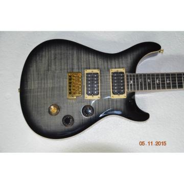 Custom Shop 24 Frets PRS Electric Guitar Gray Flame Maple Top