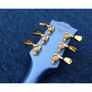Custom SG Angus Young Tremolo Metallic Blue Electric Guitar